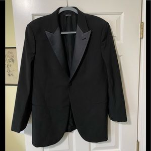 Giorgio Armani designer dress black jacket 50 or M
